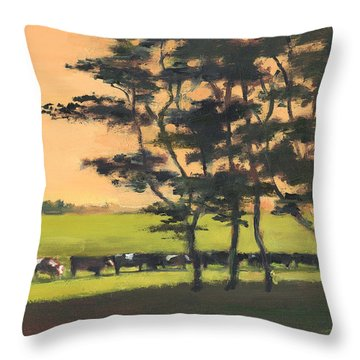 Cows 6 Throw Pillow