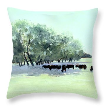 Cows 7 Throw Pillow