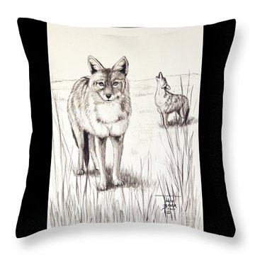 Coyote Life Throw Pillow