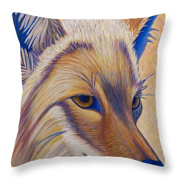 Coyote Summer Throw Pillow