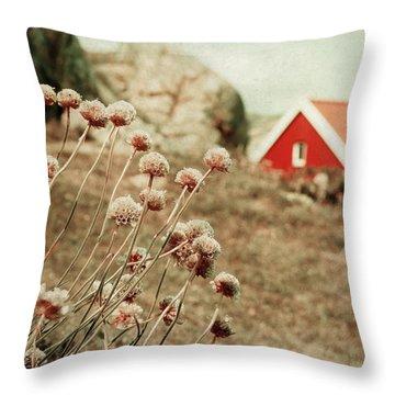 Cozily Bundled Throw Pillow