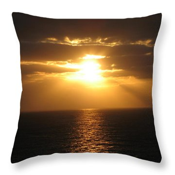 Cozumel Mexico Sunset Throw Pillow