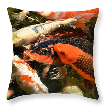 Cozy Koi Throw Pillow