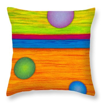 Cp001 Circle Montage Throw Pillow by David K Small