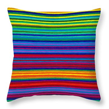 Cp038 Tapestry Stripes Throw Pillow by David K Small