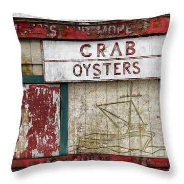 Crab And Oysters Throw Pillow