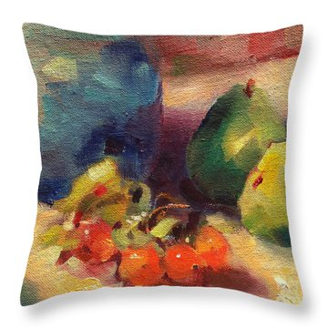 Crab Apples And Pears Throw Pillow