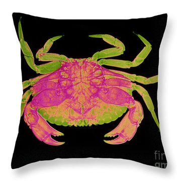 Crab Throw Pillow by D Roberts