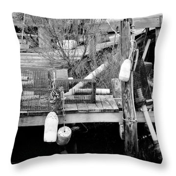 Crab Fishermans Still Life Throw Pillow