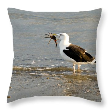 Crab For Dinner Throw Pillow