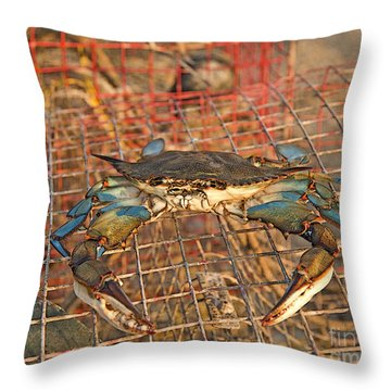 Crab Got Away Throw Pillow