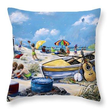 Crab Pickin Throw Pillow