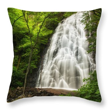 Crabtree Falls Throw Pillow by Photography  By Sai