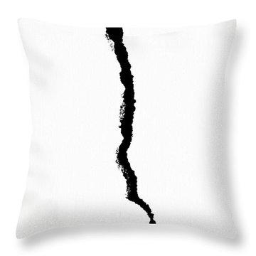 Crack Throw Pillow by Alexander Senin