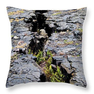 Crack In The Lava Throw Pillow