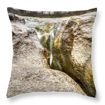 Crack In The Rocks Throw Pillow