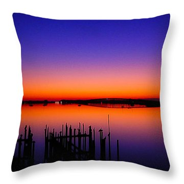 Crack Of Dawn Throw Pillow