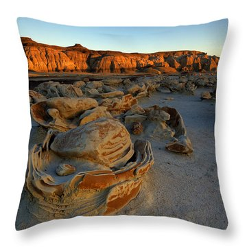Cracked Eggs In The Bisti Badlands  Throw Pillow by Alan Vance Ley