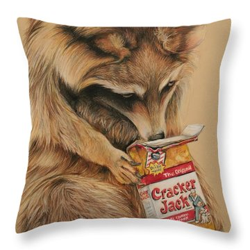 Cracker Jack Bandit Throw Pillow by Jean Cormier