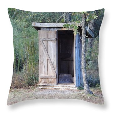 Cracker Out House Throw Pillow