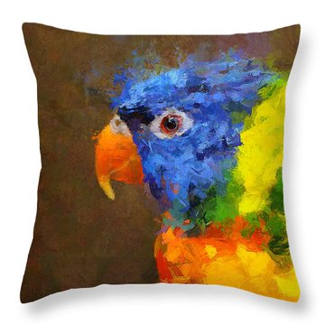 Crackers Throw Pillow by Greg Collins
