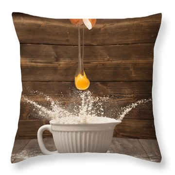 Cracking The Egg Throw Pillow