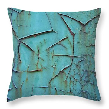 Crackled Rust Throw Pillow