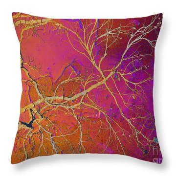 Crackling Branches Throw Pillow