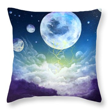 Cradle Of Worlds Throw Pillow