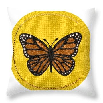 Cradleboard Beadwork Spring Butterfly Throw Pillow