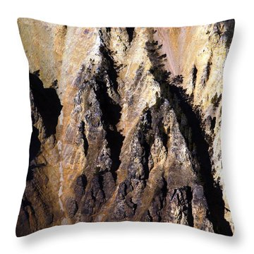 Crag Throw Pillow by Tarey Potter