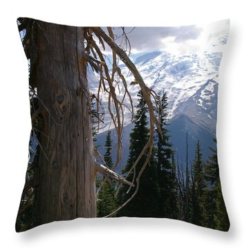 Craggy Mountain Tree Throw Pillow by Christine Burdine
