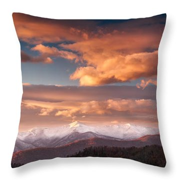 Craggy Snow Throw Pillow