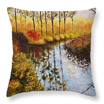Cranberry Bog Throw Pillow by Jason Williamson