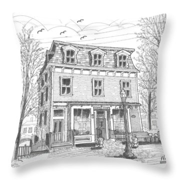 Cranberry's Cafe Circa 1884 Throw Pillow