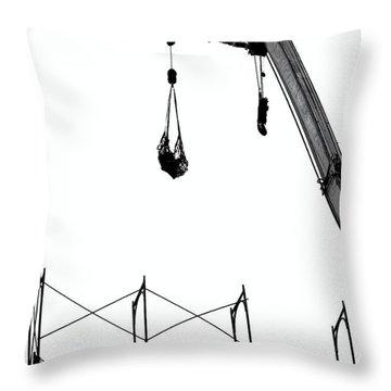 Crane And Construction Site Throw Pillow