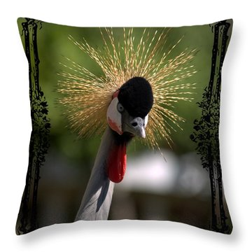 Throw Pillow featuring the photograph Crane by Athala Carole Bruckner