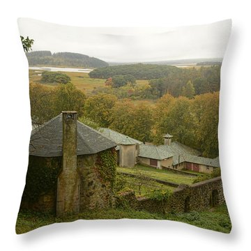 Crane Estate On A Misty Day Throw Pillow