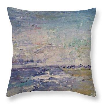 Cranes Beach  Throw Pillow