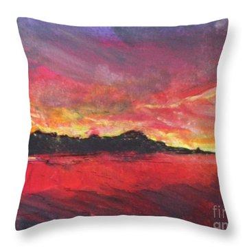 Cranes Beach Sunset Throw Pillow