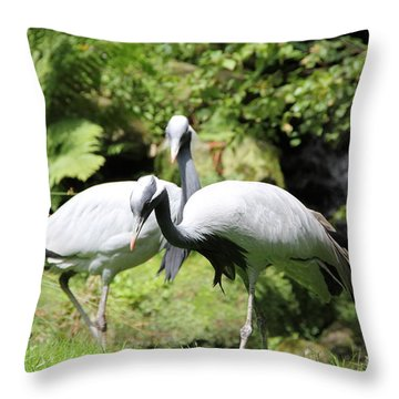 Cranes Throw Pillow