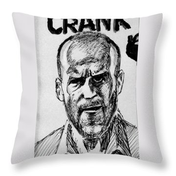 Throw Pillow featuring the painting Jason Statham by Salman Ravish