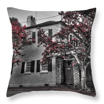 Crape Myrtles In Historic Downtown Charleston 1 Throw Pillow