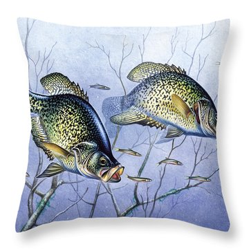Crappie Brush Pile Throw Pillow