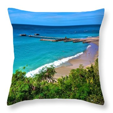 Crash Boat Beach 1 Throw Pillow
