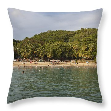 Throw Pillow featuring the photograph Crash Boat Beach In Puerto Rico by Bryan Mullennix