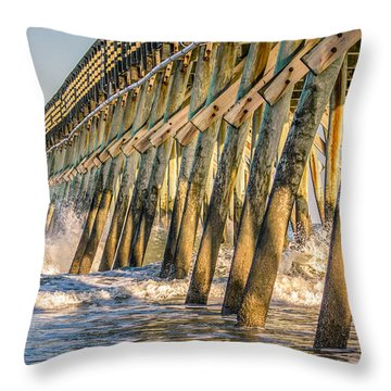 Throw Pillow featuring the photograph Crash by Rob Sellers