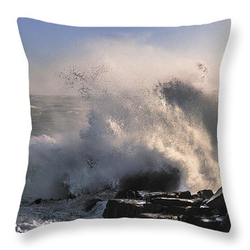 Crashing Surf Throw Pillow