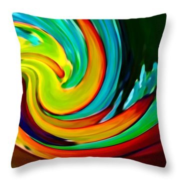 Crashing Wave Throw Pillow by Amy Vangsgard