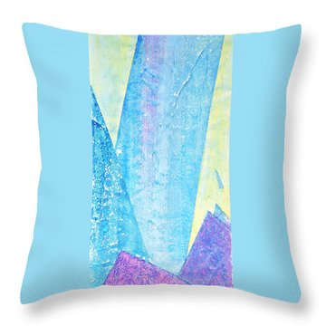 Crashing Waves And Rocks Throw Pillow by Asha Carolyn Young